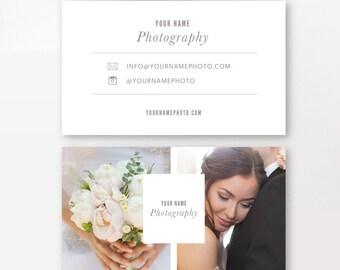 INSTANT DOWNLOAD - Photographer Business Cards Template - Wedding Photographers - Digital Design - Photoshop Templates - PSD Design