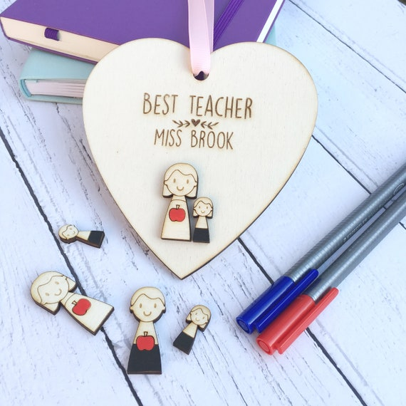 Teacher gift - Class room decoration - personalised Teacher Thank You - Best Teacher - Teaching assistant gift