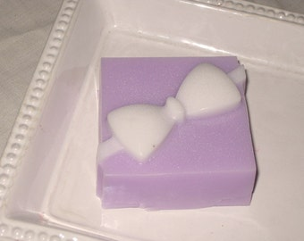 Soap, Lavender scented Gift Box all Natural Shea Butter Soap Vegan Friendly ECS