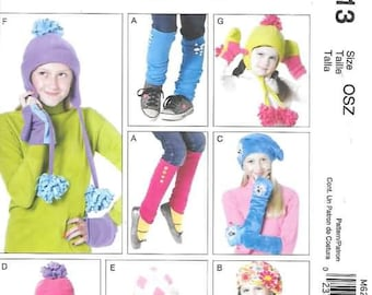 Childrens  Hats, Leggings, Mitten and More  New McCalls Pattern 6213