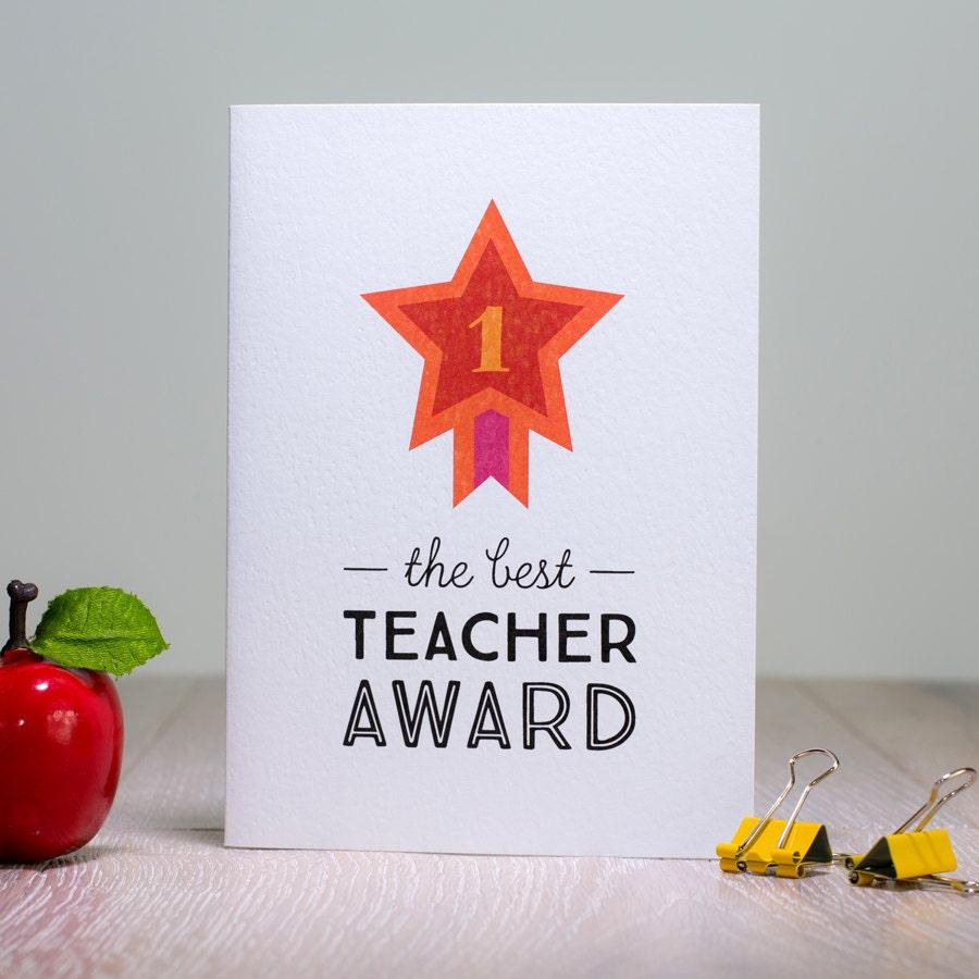 Best teacher card thank you teacher card no 1 teacher award zoom kristyandbryce Gallery