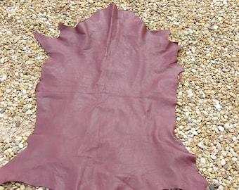 Burgundy skin very soft lambskin leather full