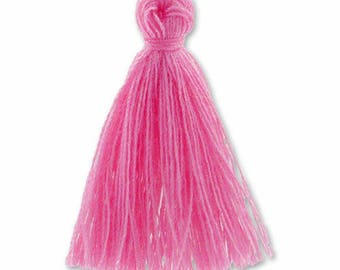 30mm pink cotton tassel