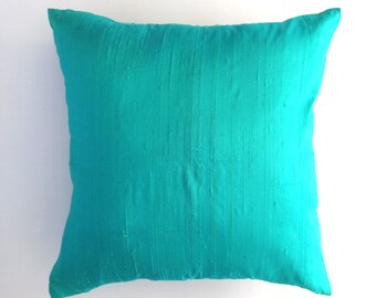 Mint Green  dupioni silk cushion cover rich  and  elegant  decorative throw pillows- reduce  price  18 inch  in  stock  2 pcs