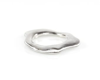 Modern Stack Ring, Silver Stack Ring, Wavy Stack Ring, Reclaimed Silver Ring, Arp Ring