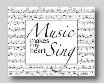 Music Inspired Gifts, Music Gift For Men, Music Inspired Art, Gift for Music Lover, Music Teacher Sign, Music Gift, Music Artwork,Music Sign