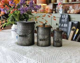 Country Living tin canister set (3)