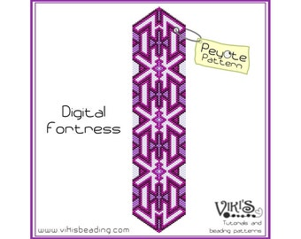 Peyote Bracelet Pattern: Digital Fortress - INSTANT DOWNLOAD pdf - New Discount codes -  bp273