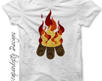Campfire Iron on Transfer - Iron on Camping Shirt PDF / Family Hiking Trip Tshirt / Camping Theme Birthday / Boys Toddler Tee / DIY IT263