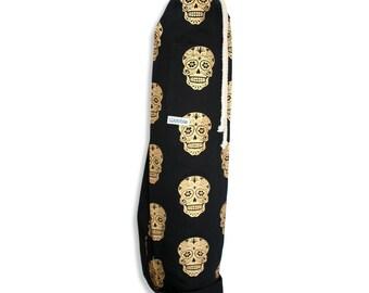 Gold skull black Wobble Yoga bag