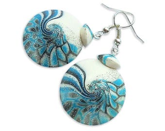 Blue earrings Light blue earrings Sky blue earrings Winter earrings Blue jewelry Winter jewelry Light blue jewelry Sky blue jewelry