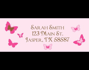 30 Return Address Labels   BUTTERFLY