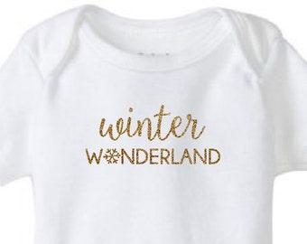 Winter Wonderland Baby Bodysuit // Winter // Christmas