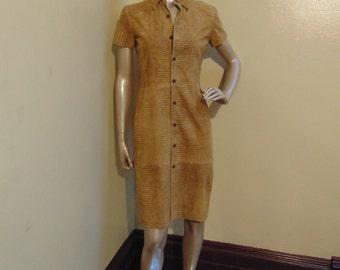 Suede Shirt Dress