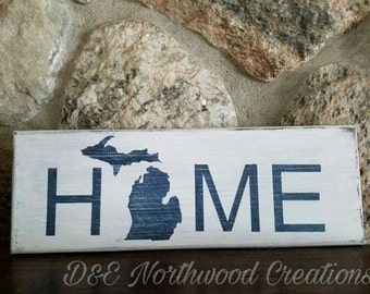 Homemade Rustic Home Wood Sign
