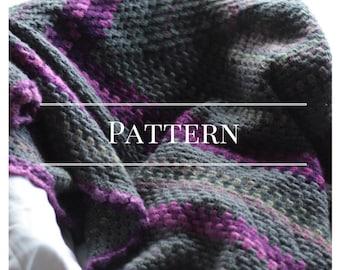 Crochet blanket, pattern, Granny Square blanket, Pattern  Chocolate Dog Studio