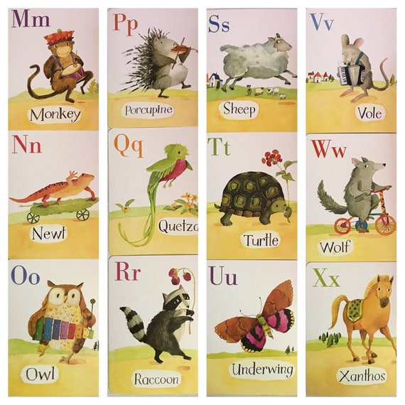 Dorable Alphabet Cards Wall Art Gift - Wall Painting Ideas ...