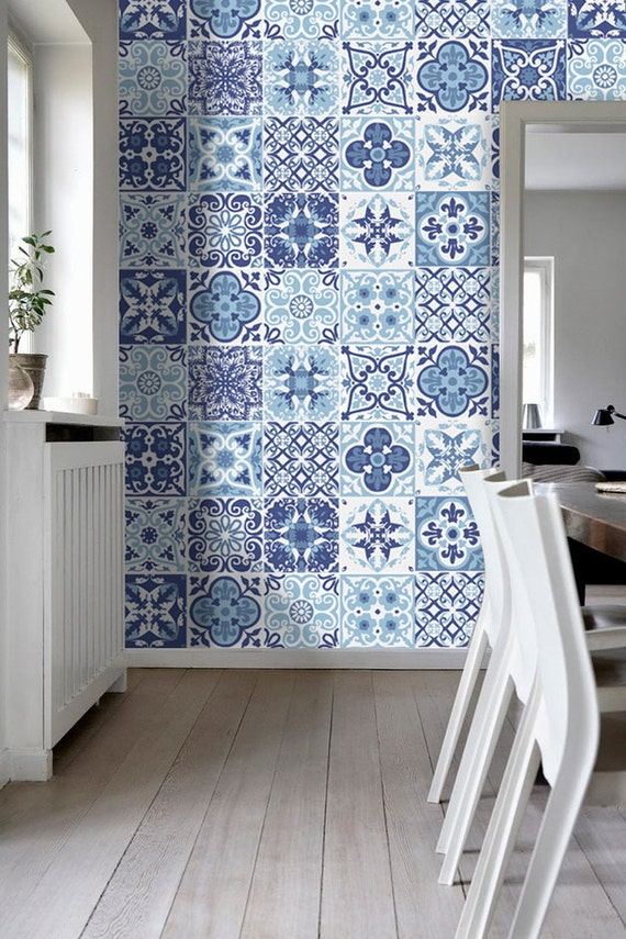Portuguese Blue Tile Stickers Tile Decals Kitchen