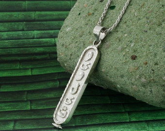 Cartouche etsy arabic cartouche monogram necklace arabic necklace cartouche necklace personalized in english aloadofball Image collections