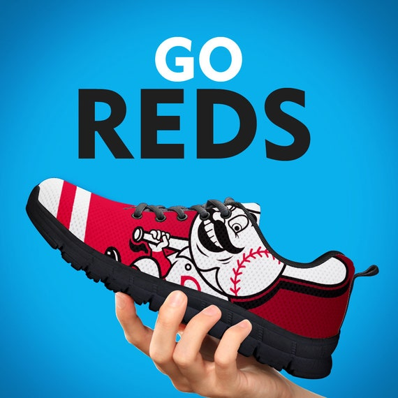 Sizes Cincinnati Reds Gift Gift Sneakers Mens Trainers Gift Running Womens Baseball Kids Shoes Collector Custom 88gRrc4