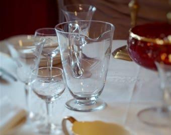 Pitcher glass, vintage, 50, table art.