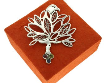 Yggdrasill, Tree-shaped Sterling Silver Pendant
