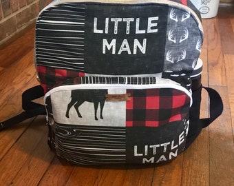 Baby shower gift- backpack-woodland backpack-backpack diaper bag