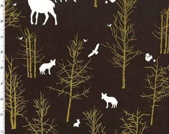 Michael Miller - Brambleberry Ridge by Violet Craft - Timber Valley - Bark