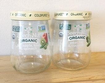 Set of 20 Empty Baby Food Jars 4.25oz Baby Food Jars Ready for Crafts Organization Craft Room Storage