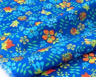 Liberty of London 59x136cm Edenham blue Orange fabric