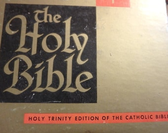 1941 holy trinity edition of the catholic bible by catholic press in orig. box