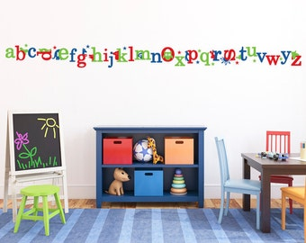 Alphabet Letter Wall Decals, Playroom Wall Decal, ABC Letter Stickers, Kids Wall  Decals