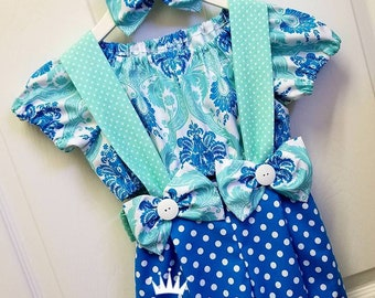 Girls Pageant Casual Wear Outfit of Choice Fits Sizes 18 mos - 2T-Girls 6  Bubble Shorts Top
