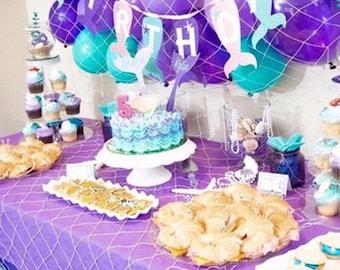Mermaid party supplies/mermaid birthday party/decoration/Mermaid theme fishnet/Nautical Fishnet/beach party decor/baby shower decor/favor