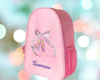 Personalized Beautiful Pink BALLET Bag, Dance Backpack, Ballet Backpack Lightweight toddler backpack with FREE Gift