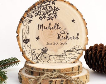 Rustic Wedding Cake Topper. Love Tree with Pigeons Cake Topper. Rustic Wood Cake Topper. Rustic Cake Topper. Rustic Wedding