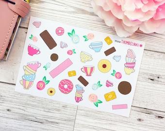 Tea & Biscuits Decorative Planner Sticker Sheet (TP258)