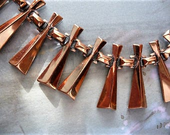 Renoir ... Cool Copper Retro Necklace ... Just the One for You !