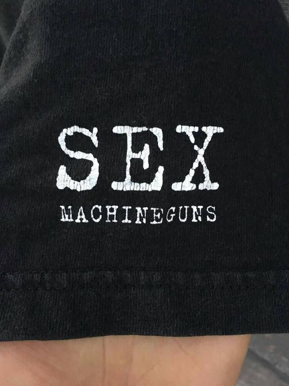 Vintage machineguns rock 90s promo band japan sex shirt S4SqxwrT