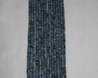 Lapis, AB Lapis, Lapis Rondelle, Faceted Rondelle, Natural Stone, Natural Gemstone, Sparkle, Spacer, Strand, 3mm