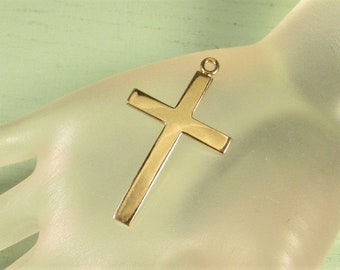 Gold Filled Cross Pendant - Theda Signed 14k GF