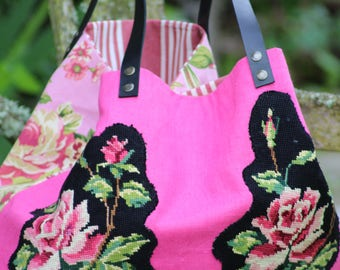 """""""With old tapestry"""" tote bag Made in France"""