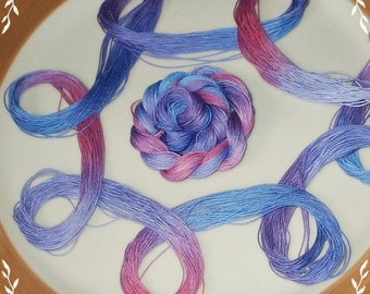 FRENCH HARVEST - Hand Painted, Dyed Lizbeth Size 20 Cordonet, Egyptian Cotton Thread for Tatting, Crochet