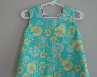 Toddler Reversible Crossback Tunic (size 6 - 9 Months) byJeanne Fabric Creations