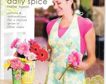 Halter Apron Pattern By Heather Bailey Size Small (6-10)