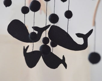"""Baby mobile """"Whales for babies"""""""