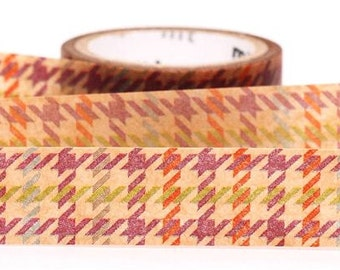 187912 houndstooth wax mt fab Washi Masking Tape deco tape