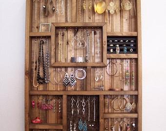 Jewelry Storage Earring Holder Necklace Organizer Bracelet Display