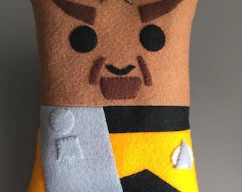 Star Trek Lieutenant Worf Mini Felt Cushion