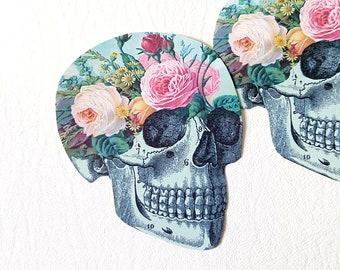 Floral Skull Sticker Secret Garden Pastel Grunge Planner Sticker Macbook Sticker Cute Stationary